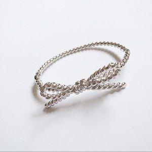 Kate Spade Silver Rope Bow Bracelet